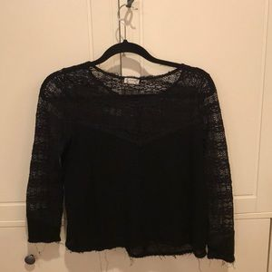 Free People Black Blouse